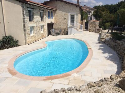 Photo for 3 BED DETACHED VILLA TO RENT , SECLUDED, PRIVATE HEATED POOL, CHARENTE, FRANCE
