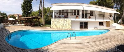 Photo for Ideal for families, Beautiful house with swimming pool and private tennis court
