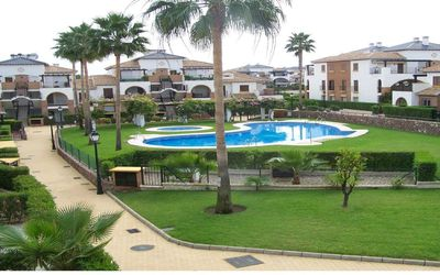 Photo for Groundfloor condo 4p, in a beautiful resort in Vera Playa with outdoor pool.
