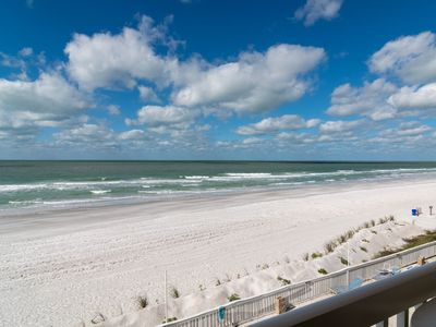 Photo for Beachfront 2/2 Condo with Panoramic Views of the Gulf