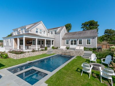NEW and LUXURIOUS Nantucket Vacation Compound:  8 BR suites, pool, spa, theater.