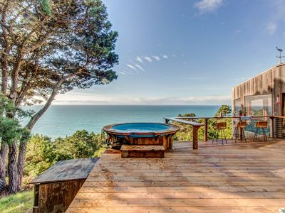 Photo for Dog-friendly, hillside home w/ oceanview, private hot tub, & shared pools/saunas