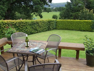 3. Enjoying a glass of Sancerre and the view towards Skiddaw.