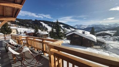 Photo for New chalet | Ski on foot | Les Saisies center | 12 people | Sauna