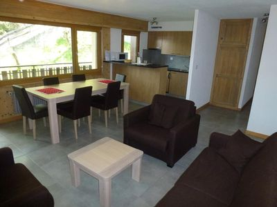 Photo for 2-bedroom apartment 3* renovated for 5-7 people next to the skilift from Veysonnaz. Bright living ro