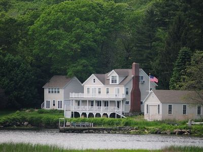 Photo for Riverview Cottage, Mystic: Large Waterfront Home on Quiet Cove