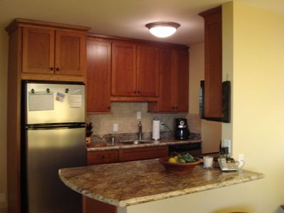 Kitchen with Stainless Steel Appliance and Granite Counter Tops