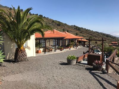 Photo for Finca Ventura with pool, sea and mountain views.