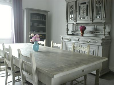 Photo for Spacious apartment, bright and quier, close to the sea and downtown Berck.