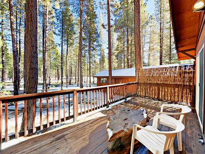 Photo for 2BR Cabin w/ BBQ Deck - Drive 15 Minutes to Skiing, 5 Minutes to Dining