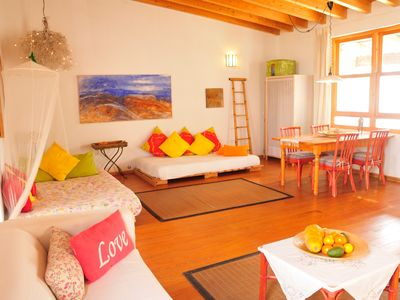 Photo for FREE WIFI - Cozy house with wooden floor and rooftop terrace in lovely Finca