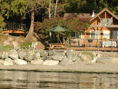 Photo for Beachfront Cabin - 2BR Deluxe (stunning beachfront location, west-facing!)