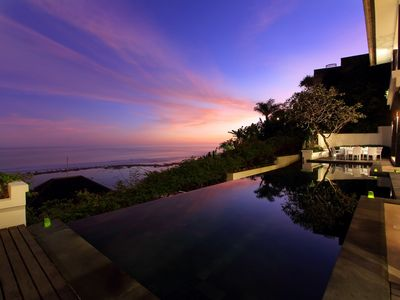 Photo for Stunning 3 Bedroom Indian Ocean View Villa, View Nusa Dua;