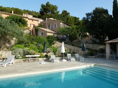 Photo for Charming house with pool in Crillon by Mont Ventoux. Exceptional view.