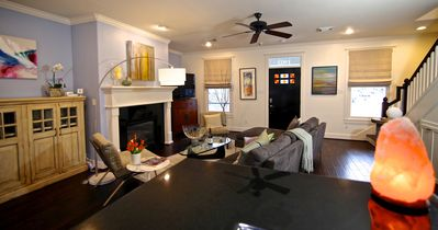 Photo for Quiet Gated Creekside Artist's Modern Home in the Heights.