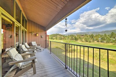 Enjoy breathtaking views from the private balcony.