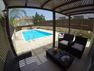 Photo for LOVELY 2 BED VILLA WITH OWN POOL.  FREE WIFI/AIR CON, UK TV. LARGE OUTDOOR SPACE