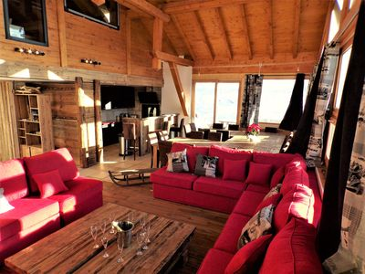 Photo for CHALET SKI AND GOLF 18 HOLES AT FOOT SWIMMING POOL, JACUZZI SAUNA HAMMAM AND ROOM CINE