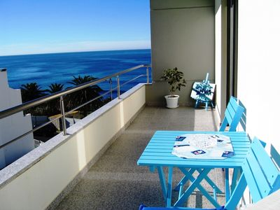 Photo for Apartment with one bedroom, with pool, sea view, in the center of Ericeira