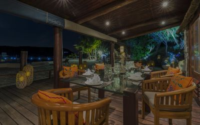 Private dining on the beach deck