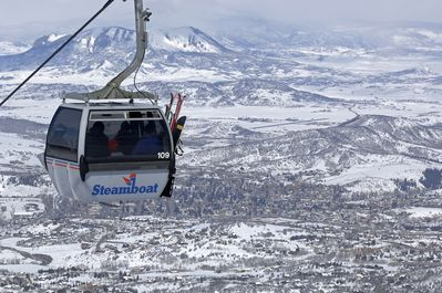 Gondola service to mid-way, right outside your door!