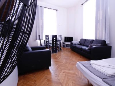 Photo for Comfortable Serviced Apartment in Central Prague suitable for 6 - Three Bedroom Apartment, Sleeps 6