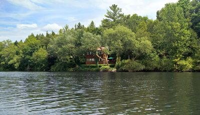 300' of private waterfront on a calm, wide river.