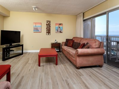 Photo for Updated Beachfront Condo, Beach Setup Included, Quick Drive To Entertainment