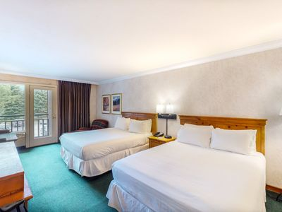 Photo for Inviting hotel room in second floor w/valley views, shared hot tub, pool, & gym