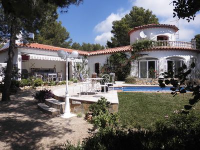 Photo for In Las Planas Del Rey quiet villa with heated pool near the sea