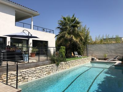 Photo for House + pool. 700 from the sea