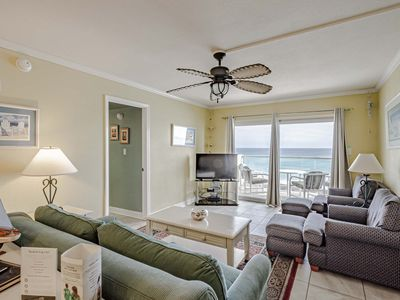 Photo for Gulf Front Two Bedroom Condo, View the Beautiful Gulf Waters from Your Private B