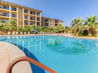 Photo for NEW LISTING! Luxurious condo w/shared pool & hot tub - near town, golf & parks