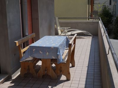 Photo for Al Mare By Leo Wifi Parking place Furnished terrace 30 meters from the sea
