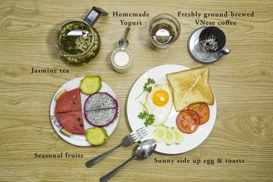 Healthy homemade breakfast to start your day of exploring Saigon