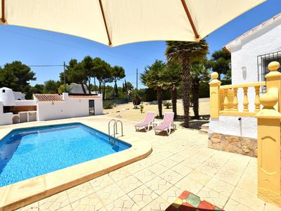 Photo for Holiday home in Javea, 6p, pool, internet, beach at 6km