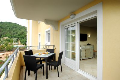 Open the door and step out onto your private balcony!