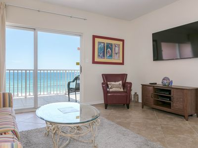 Photo for Beachfront, corner condo w/ a furnished balcony, shared pool, & grilling area