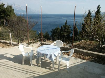 Photo for One bedroom apartment with terrace and sea view Marušići, Omiš (A-657-b)
