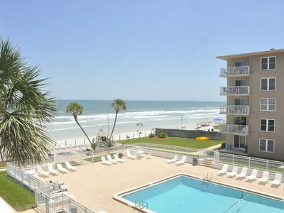 Photo for Ocean View! 2bed/2ba condo in NewSmyrna on no drive beach!
