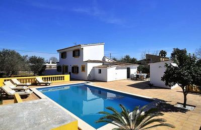 Photo for Country house with private pool in Binissalem for 9 people