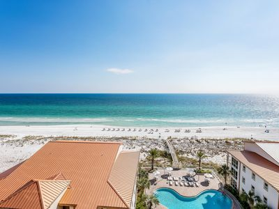 Photo for Spectacular 3 bedroom 3 bath condo overlooking Gulf of Mexico w/2 Heated Pools!