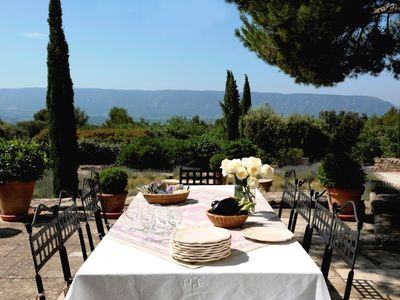Photo for Gorgeous in Gordes, Elegantly Furnished with Pool, Tennis and Views
