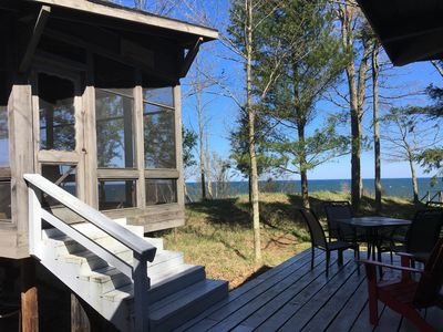 The Screened in porch off the deck.