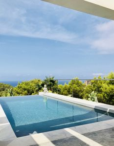 Photo for Impressive Villa on the West side of Ibiza. Modern, best seaviews and sunsets!