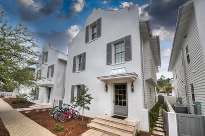 Rosemary Beach - A view of the front of the home and the exterior landscape