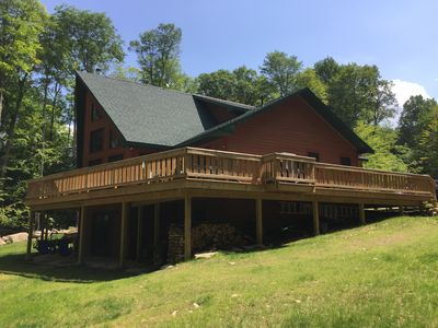 Side View of Home and Deck