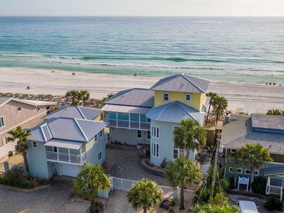 Photo for Modern-style Gulf front home w/ shared hot tub, gas grill - steps to the beach!