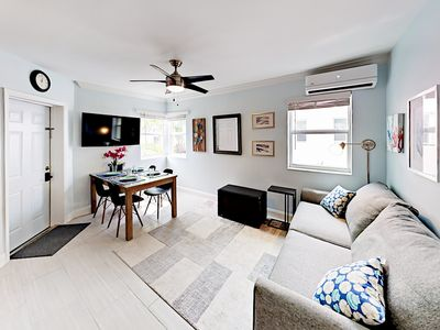 Photo for Steps to Boardwalk! Updated 1BR Art Deco Beach Bungalow w/Courtyard & Parking