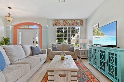 Gorgeous Living room with 55 inch TV